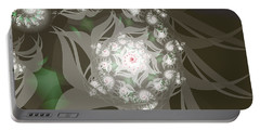 Portable Battery Charger featuring the digital art Garden Echos by Elizabeth McTaggart