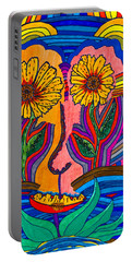 Garden Face - Lotus Pond - Daisy Eyes Portable Battery Charger