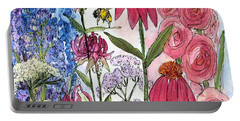 Garden Flower And Bees Portable Battery Charger