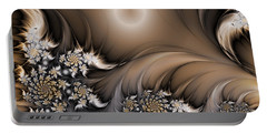 Portable Battery Charger featuring the digital art Garden Of The Future by Gabiw Art