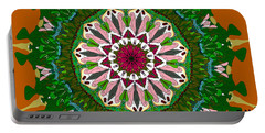 Portable Battery Charger featuring the digital art Garden Party #2 by Elizabeth McTaggart