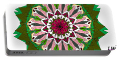 Portable Battery Charger featuring the digital art Garden Party by Elizabeth McTaggart