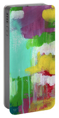 Garden Path- Abstract Expressionist Art Portable Battery Charger by Linda Woods