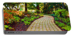 Garden Path Portable Battery Charger by Michelle Joseph-Long