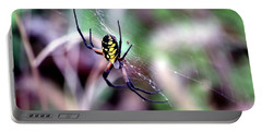 Garden Spider Portable Battery Charger by Deena Stoddard