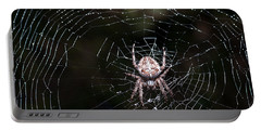 Portable Battery Charger featuring the photograph Garden Spider by Matt Malloy