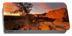 Garden Sunrise Portable Battery Charger by Ronda Kimbrow