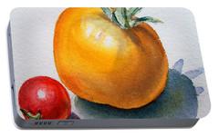 Garden Tomatoes Portable Battery Charger by Irina Sztukowski