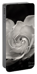 Gardenia Bloom In Sepia Portable Battery Charger