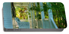 Gardens Porch In Key West Portable Battery Charger