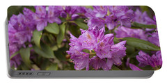 Portable Battery Charger featuring the photograph Garden's Welcome by Miguel Winterpacht