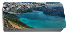 Garibaldi Lake Blues Greens And Mountains Portable Battery Charger by Adam Jewell
