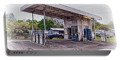 Portable Battery Charger featuring the photograph Gasoline Station by Jim Thompson