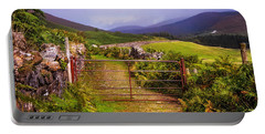 Gates On The Road. Wicklow Hills. Ireland Portable Battery Charger
