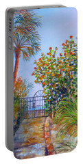 Portable Battery Charger featuring the painting Gateway To Paradise by Lou Ann Bagnall