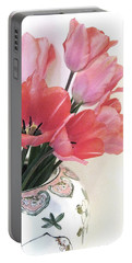 Gathered Tulips Portable Battery Charger
