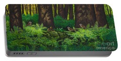 Gathering Among The Ferns Portable Battery Charger