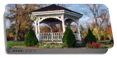 Portable Battery Charger featuring the photograph Gazebo At Olmsted Falls - 1 by Mark Madere