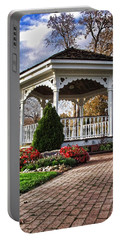 Portable Battery Charger featuring the photograph Gazebo At Olmsted Falls - 3 by Mark Madere