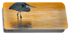 Portable Battery Charger featuring the photograph Gbh In Orange Water by Bryan Keil