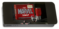 Marvel Comic's Still Life Acrylic Painting Art Portable Battery Charger