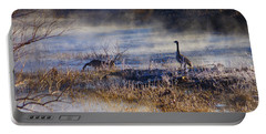 Geese Taking A Break Portable Battery Charger by Jennifer White