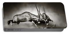 Gemsbok Fight Portable Battery Charger