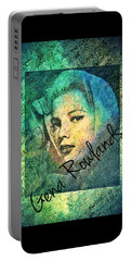Gena Rowlands Portable Battery Charger by Absinthe Art By Michelle LeAnn Scott