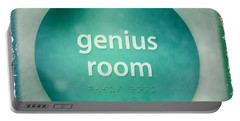Portable Battery Charger featuring the photograph Genius Room by Nina Prommer