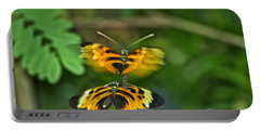 Portable Battery Charger featuring the photograph Gentle Butterfly Courtship 03 by Thomas Woolworth