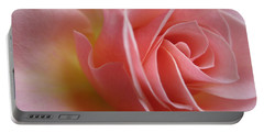 Gentle Pink Rose Portable Battery Charger