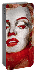 Portable Battery Charger featuring the painting Gentlemens Prefer Blondes by Laur Iduc