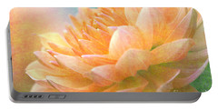Gently Textured Dahlia  Portable Battery Charger