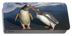 Gentoo Penguin Chick Begging For Food Portable Battery Charger