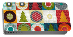 Geo Christmas Portable Battery Charger