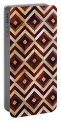 Geometric Inlay Design Portable Battery Charger
