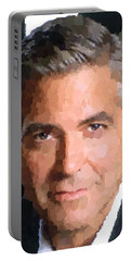 George Clooney Portrait Portable Battery Charger