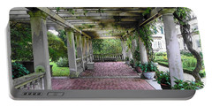 George Eastman Home Pergola Rochester Ny  Portable Battery Charger by Jodie Marie Anne Richardson Traugott          aka jm-ART