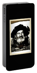 George Hayes Portrait #1 Card Portable Battery Charger by David Lee Guss
