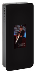 Portable Battery Charger featuring the photograph George Thorogood II by John Telfer