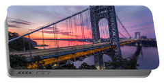 George Washington Bridge Portable Battery Charger by Mihai Andritoiu