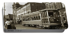 Georgetown Trolley E Market St Wilkes Barre Pa By City Hall Mid 1900s Portable Battery Charger
