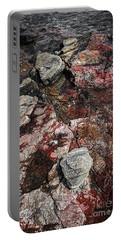 Georgian Bay Rocks Abstract II Portable Battery Charger