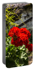 Portable Battery Charger featuring the photograph Geranium Bloom by Mez