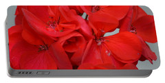Geranium Red Portable Battery Charger