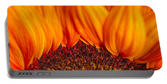 Portable Battery Charger featuring the photograph Gerbera On Fire by Adam Romanowicz