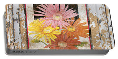 Gerbera On Vintage Tin Portable Battery Charger