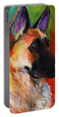 German Shepherd Dog Portrait Portable Battery Charger