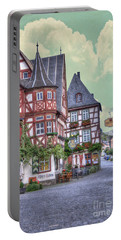 German Village Along Rhine River Portable Battery Charger