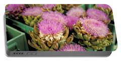 Germany Aachen Munsterplatz Artichoke Flowers Portable Battery Charger by Anonymous